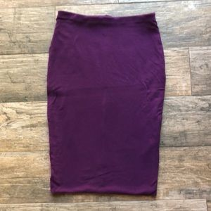 H&M basic high waisted pencil skirt
